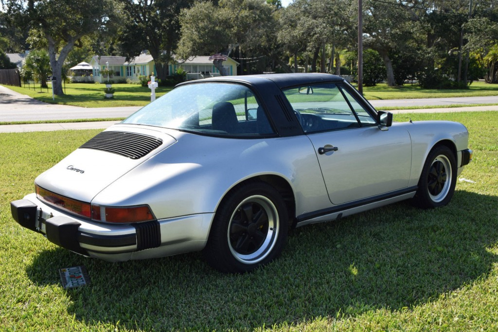 1984 Porsche 911 Carrera Targa Silver Black Fuchs Rims For Sale