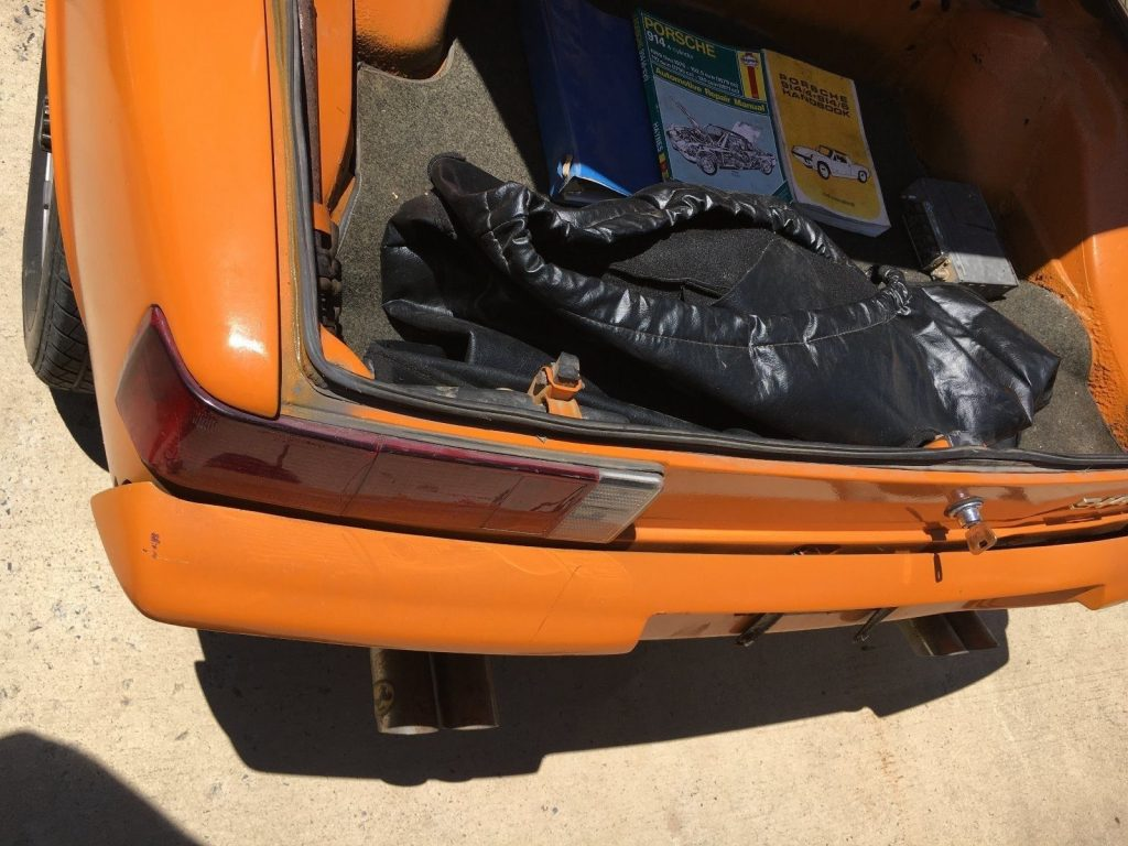 Orange 1972 Porsche 914 with rebuilt engine