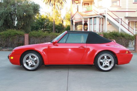Red 1997 Porsche 993 911 Carrera Cabriolet for sale