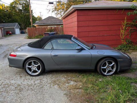 2002 Porsche 911 convertible 3.6l Roller Needs Engine or part it out for sale
